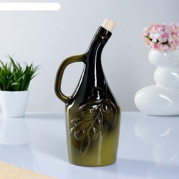 Бутылка для масла оливки 0,9 л, микс