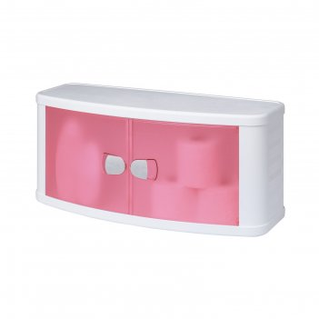 Шкаф настенный подвесной с дверками, цвет розовый
