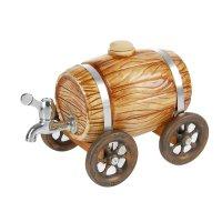 Бочка для напитков колес светло-коричневая глазурь 4л