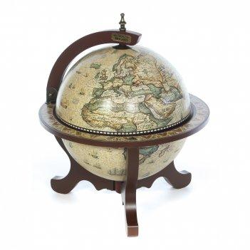 Глобус бар brigant сокровища древнего мира напольный d=33cм, 45*45*59
