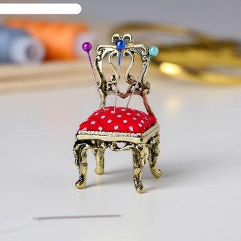 Игольница «стульчик» лaтунь, 3 х 6 х 3 см