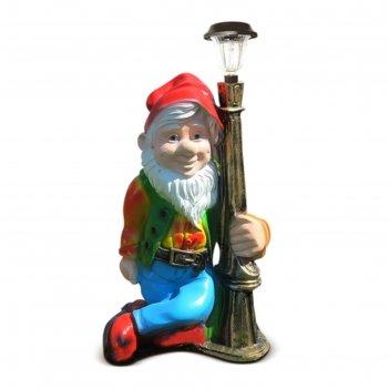 Светильник садовый гном с фонарем