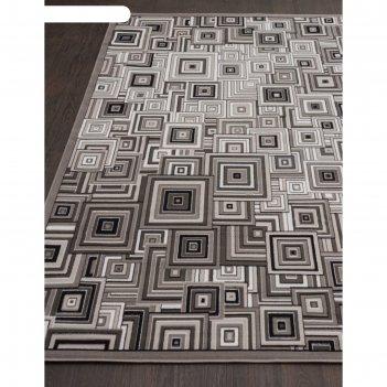 Прямоугольный ковёр silver d239, 250x400 см, цвет gray
