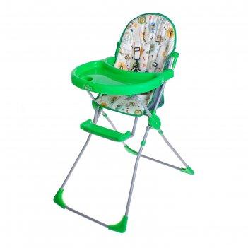 Стульчик для кормления selby 152 «совы», цвет зелёный