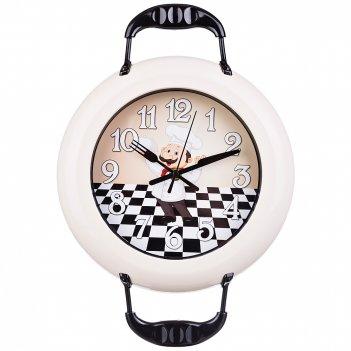 Часы настенные кварцевые chef kitchen 37*26 см диаметр циферблата=18 см(ко
