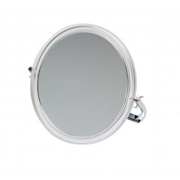 Зеркало dewal beauty настольное, в прозрачной оправе, на металлической под
