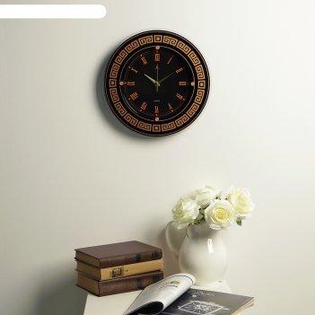 Часы настенные, серия: классика, ретро, узорчатое кольцо а1, 32х32  см, ми