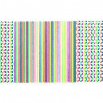 Слайдер-дизайн для ногтей полосы, неоновый, цвета микс