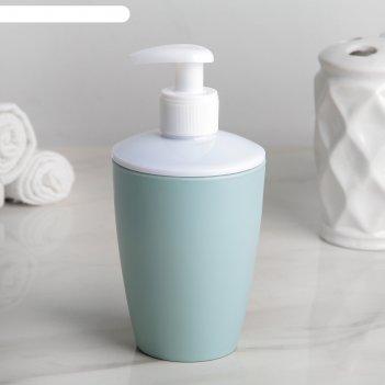 Дозатор для жидкого мыла стиль 7,6х15,8 см, цвета микс