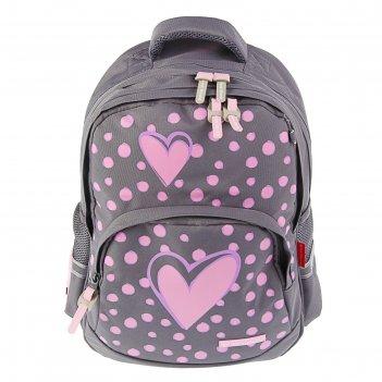 Рюкзак школьный эргономичная спинка 40 х 30 х 16 см bruno visconti «сердце