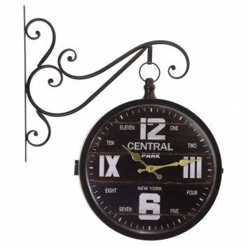 Часы настенные декоративные двусторонние, l45 w11 h47 см,(2хаа не прилаг.)