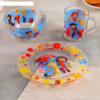 Набор посуды детский 3 предмета мульт