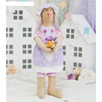 Набор для шитья текстильной игрушки зайка елизабет
