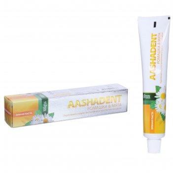 Зубная паста aasha herbals, ромашка - мята, 100 г