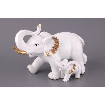 Фигурка слон со слоненком длина=22 см.