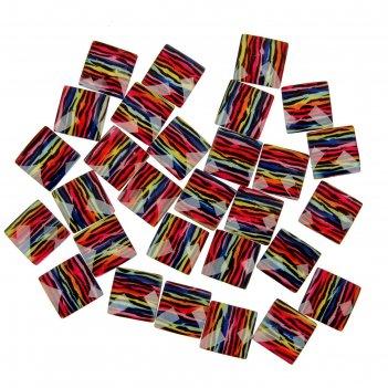 Набор декора для творчества 30 шт квадратный полосатый