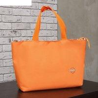 Сумка пляжная на молнии bagamas, 1 отдел, цвет оранжевый/горох