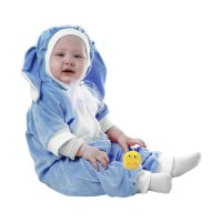 Карнавальный комбинезон для самых маленьких  зайка голубой рост 68-92