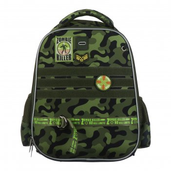 Рюкзак каркасный hatber ergonomic light 38 х 29 х 16, для мальчика zombi k