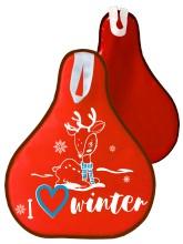 Мт12717 сани-ледянка оленёнок цвет красный, 52*42см