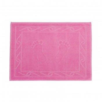 Полотенце для ног hayal, размер 50x70, розовый