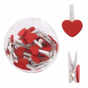 Декоративное изделие прищепка-сердечко (набор из 36шт), l1,8...