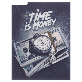 Картина время - деньги 40х30 см
