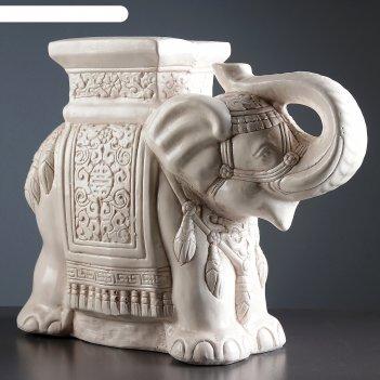 Фигура - подставка слон состаренный 23х59х45см