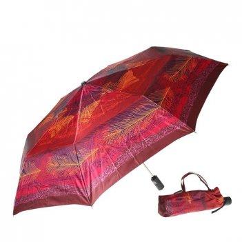 Зонт 23, полный автомат (атласный, перья)