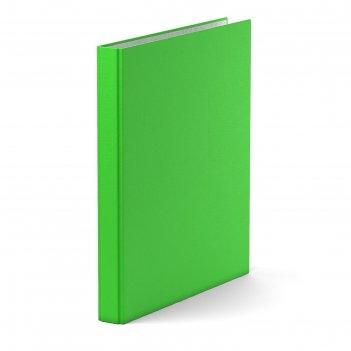 Папка-регистратор на 4 кольцах а4, 35мм erich krause neon зеленая, картон