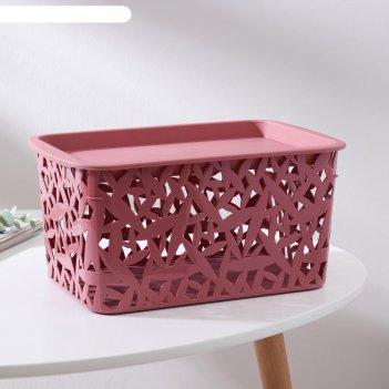 Корзина универсальная бытпласт, 3хl, 29,3x19,3x14,7 см, цвет тёмно-розовый