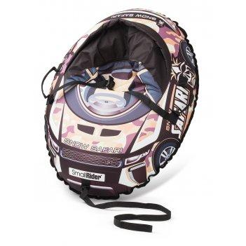 Надувные санки-тюбинг с сиденьем и ремнями small rider snow cars 3 (сафари