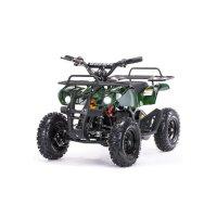 Детский электро квадроцикл motax atv х-16 800w мини-гризли, зеленый камуфл