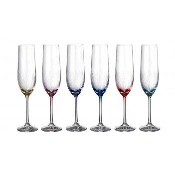 Набор бокалов для шампанского из 6 шт.виола q8417...