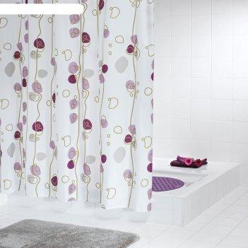 Штора для ванной комнаты soaring, цвет фиолетовый 180х200 см