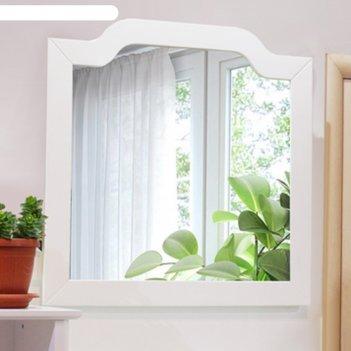 Зеркало comforty «версаль-90» белый шпон, массив ясеня