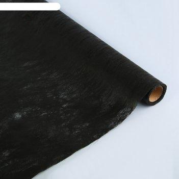 Фетр мрамор, ламинированный, черный, 60 см х 5 м