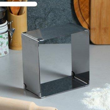 Форма для выпечки с регулировкой размера «квадратная», 16-28 х 8,5 см