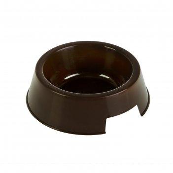 Миска для любимца, 0,4 л, коричневая