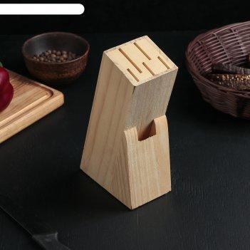 Подставка для ножей, 11х6х20 см, дерево
