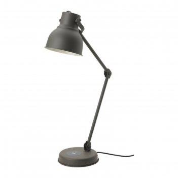 Настольная лампа хектар 1x7вт е14 темно-серый 18x18см