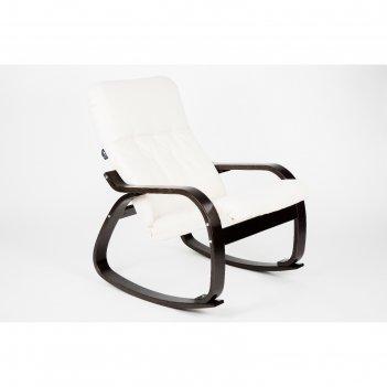 Кресло-качалка сайма ткань гардения/каркас венге