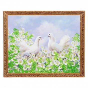 Картина влюблённые голуби багет №5 (40х50 см) sl545