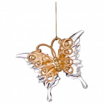 Декоративное изделие бабочка 12*9 см цвет: матовое золото без упаковки (ма