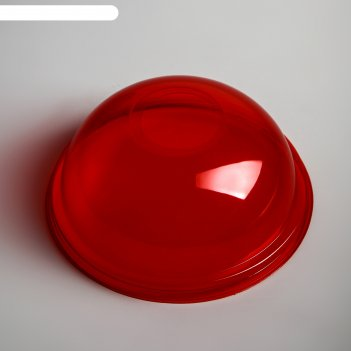 Крышка красная шейкер купольная с отверстием
