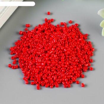 Бисер круглый красно-оранжевый, размер 12/0, 20 г
