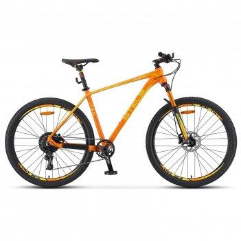 Велосипед 27,5 stels navigator-770 d, v010, цвет оранжевый, размер 15,5