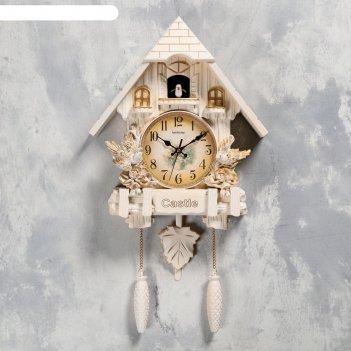 Часы настенные с кукушкой замок с птицами, 2 шт 3 аа, 2 шт r14, плавный хо