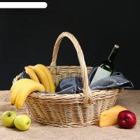 Корзина плетеная подарок, 53 х 53 х 36 см