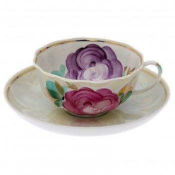 Чайная пара 220 мл королева цветов